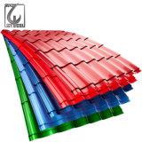 Color PPGI galvanizado recubierto de hojas de techos de metal corrugado