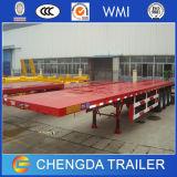 2 Verschepende Aanhangwagen van de Container van de Oplegger van de as Flatbed 20FT 40FT
