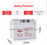 batería solar sin necesidad de mantenimiento de plomo sellada 38ah de la UPS 12V