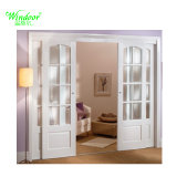 U.. E Proyecto Casa fabricante de puertas correderas de PVC, doble puerta deslizante de rieles de UPVC