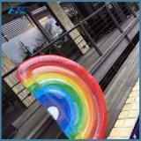 2017 juguetes inflables del agua del partido de piscina del flotador de la piscina del arco iris del verano