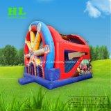 Castello rimbalzante di salto Funcity gonfiabile della trasparenza della Camera della rotella di Ferris per i capretti
