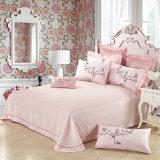 8PC. 100%年の綿の贅沢なホーム刺繍された羽毛布団カバー寝具セット