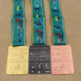 De Karate van het Metaal van de douane/het Lopen/Muntstuk/Medaillon/Goud/Zilver/Brons/Email/Marathon/de Medaille van het Kenteken/van de Sport met Lint