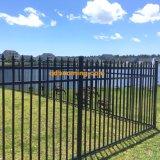 Recinzione di alluminio della piscina della rete fissa del giardino della parte superiore piana
