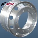 トラックの車輪の鍛造材はアルミ合金の物質的な車輪の縁に縁を付ける