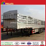 De Semi Aanhangwagen van de Staak van het Type van omheining voor Vervoer van de Lading stortgoed