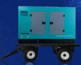 Gruppo elettrogeno diesel di rame puro mobile del rimorchio 300kw375kVA Genset
