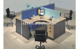 Hotsale 교차하는 칸막이실 분할 현대 사무실 오크 탁자 워크 스테이션 (SZ-WS028C)