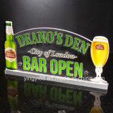 LED-Zeichen, kundenspezifischem Hauptstab-Bier-Neonlicht-Zeichen, Stab-geöffnetes Zeichen leuchten
