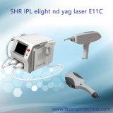 E11c de Multifunctionele IPL Elight Machine van de Verwijdering van het Haar van Nd YAG en van de Verwijdering van de Tatoegering