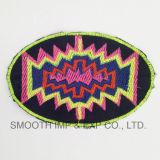 方法多彩な楕円形の衣服のアクセサリの手細工型の民族の刺繍パッチの綿