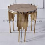 Классицистическая таблица стороны золота Rose для мебели гостиницы нержавеющей стали
