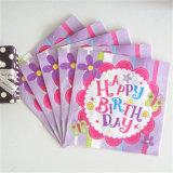 con 5 años de experiencia Fabricación de fábrica suministran servilletas de papel para cumpleaños