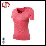 Maglietta in bianco all'ingrosso di yoga di usura di forma fisica dei vestiti delle donne