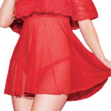 La Chine rouge de haute qualité de la Dentelle hors de l'épaule sous-vêtements sexy
