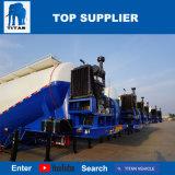 タイタンの手段- 55cbmセメントのBulkerの運送者はバルクセメントの粉のタンカーのトレーラーを半乾燥する