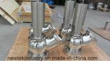 Bodem die van de Pot van Santiary de Pneumatische en het Roestvrij staal van de Klep voeden lossen SS316
