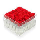 Carré personnalisé en acrylique transparent fleur Boîte de chocolat