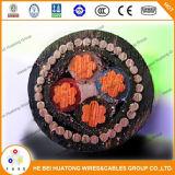 0.6/1kv câble d'alimentation isolé et par PVC engainé de XLPE de fil d'acier d'armure