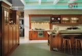 Новая нутряная конструкция кухни твердой древесины, классицистическая кухня шкафа
