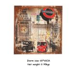 Antigüedad vendedora caliente colorido placa de madera de madera Arte Impreso