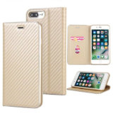 PU мобильного телефона Wallet чехол для iPhone 7/8 Plus-Gold