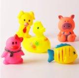 Het promotie Grappige Mini Kleine Rubber Dierlijke Speelgoed van de Douane met het Geluid van BB