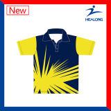 Le prix usine de Healong Chine folâtre des chemises de polo des hommes de sublimation de vitesse d'habillement à vendre