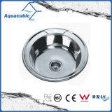 Ronde en acier inoxydable pressé évier de cuisine (ACS5150)