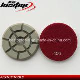 D80mm는 콘크리트, 화강암 대리석 갈기를 위한 닦는 패드를 말리거나 적시고