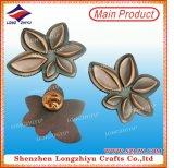 L'oro placcato non arrugginisce mai distintivi magnetici del metallo