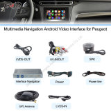 Peugeot Upgrade Touch Navigation、WiFi、HD 1080P、Google MapのPlayの記憶装置、Voiceのための車Android Navigation Interface Box、
