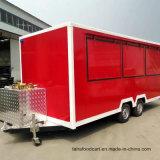 De grandes fenêtres Kiosque de fast food, Foodtruck, chariots à aliments mobile