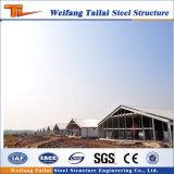 Casa de la granja de pollo de las aves de corral del panel de emparedado de la fibra de vidrio de la estructura de acero