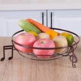 Panier de fruit rond de fil en métal de cuisine de salle de séjour de type artistique