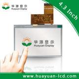 4.3 visualización del reproductor de DVD TFT LCD de la pantalla táctil de la pulgada
