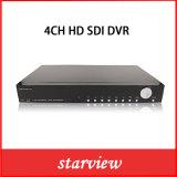La surveillance 4CH 1080p en temps réel de sécurité CCTV enregistreur DVR HD-SDI