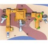 Apparatuur van de Speelplaats van de Reeks van Kaiqi de Houten Openlucht