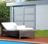 Wicker алюминиевым напольным мебель отдыха салона ротанга используемая пляжем