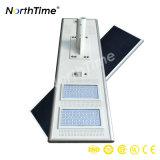 Luz de calle solar inteligente integrada al aire libre del jardín de 120W LED