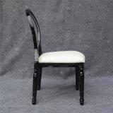 Cadeira acrílica desobstruída transparente de Louis da parte traseira do plástico do metal Stackable para o banquete e o hotel (YC-D04-02)