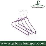 Venta al por mayor del PVC metal de la percha para colgar la ropa