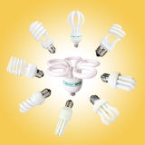 세륨 (BNFT2-HS-C)를 가진 15W T2 Half Spiral Energy Saving CFL Lamp
