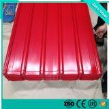 Hot la vente d'épaisseur différente Gi ral en métal ondulé Revêtement de couleur des feuilles de toiture pour les maisons
