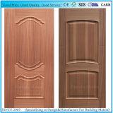 形成されたCherry/EVのチークの木製のベニヤHDFのドアの皮