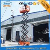 China-hydraulische selbstangetriebene im Freienelektrische Scissor Mann-Aufzug