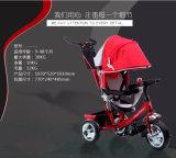 Alta sicurezza e triciclo rosso del bambino dalla fabbrica della Cina