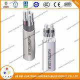 Обслуживайте электрический кабель, кабель кабеля входа обслуживания плоский электрический, концентрический кабель, кабель 2*8AWG +1*8AWG 600V Seu