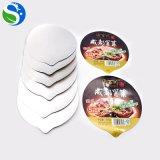 Couvercles de papier d'aluminium de cuvette de yaourt de soudure à chaud de conformité de Sqs
